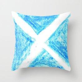 flag of scotland 7– scotland,scot,scottish,Glasgow,Edinburgh,Aberdeen,dundee,uk,cletic,celts,Gaelic Throw Pillow