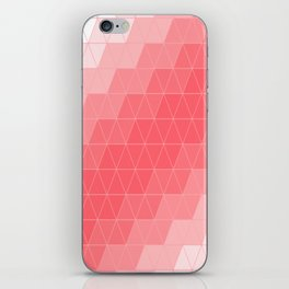 Coral Red Triangles iPhone Skin
