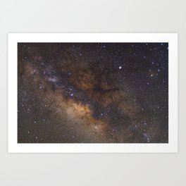 'Dark Horse Nebula' - Galactic Center July 4th, 2019 Art Print