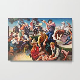 Classical Masterpiece 'Arts of the West' by Thomas Hart Benton Metal Print