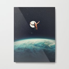 Returning to Earth with a will to Change Metal Print