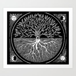 Druid Tree of Life Kunstdrucke