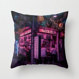 Ramen Corner in Tokyo Throw Pillow