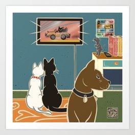 TV time Art Print