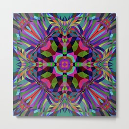 ASHBURY wild bright psychedelic pattern Metal Print