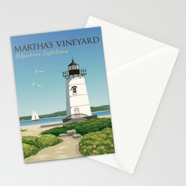 Martha's Vineyard Edgartown Lighthouse Stationery Cards