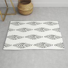 mudcloth 11 minimal textured black and white pattern home decor minimalist beach Rug