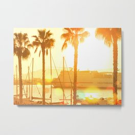 The Marina At Sunset - Landscape Photography Metal Print
