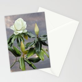White Magnolia Tree Stationery Cards