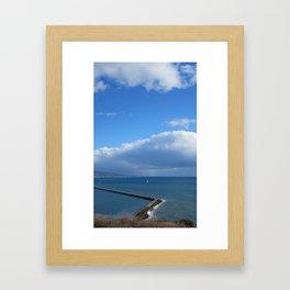 SAILING DANA POINT Framed Art Print