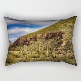 Saguaros in the Desert Rectangular Pillow