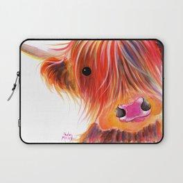 Scottish Highland Cow ' SWEET SATSUMA ' by Shirley MacArthur Laptop Sleeve