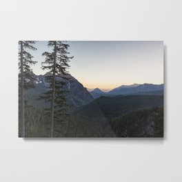 Sunset at Inspiration Point in Mount Rainier Metal Print