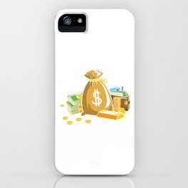 Dividend Aristocrat Money Stocks Investors Gift iPhone Case