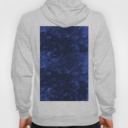 Royal blue navy velvet Hoody