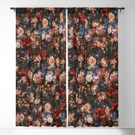 Vintage Summer Floral Blackout Curtain