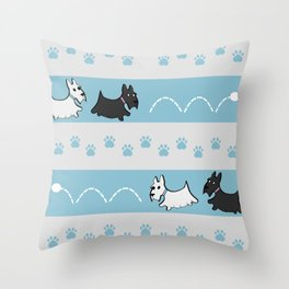 Scotties Pattern Throw Pillow