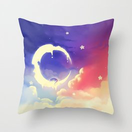 Sky made of colors Throw Pillow