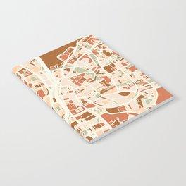 TEL AVIV ISRAEL CITY MAP EARTH TONES Notebook