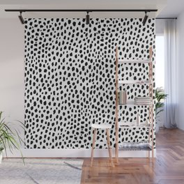 Dalmatian Spots (black/white) Wall Mural