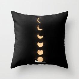 Go Slowly, My Lovely Moon, Go Slowly Throw Pillow
