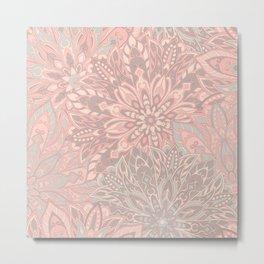 Pink pretty mandala pattern Metal Print