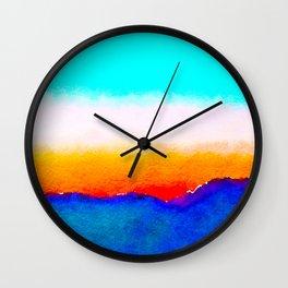 Rainbow Ribbons of Transformation Wall Clock