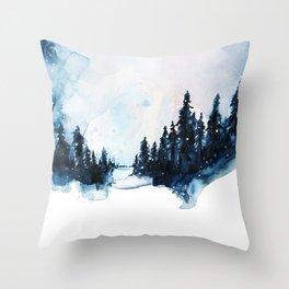 Winter Watercolor Throw Pillow