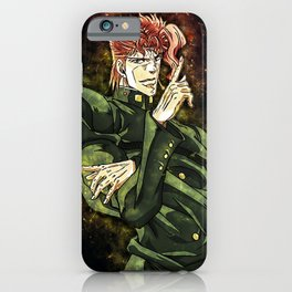 Jojos Bizarre Adventure Noriaki Kakyoin iPhone Case