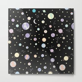 Suddenly - Space Pattern Metal Print