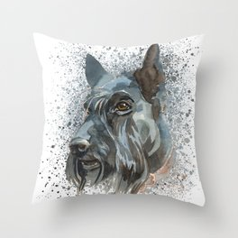 Watercolor Scottish Terrier  Throw Pillow