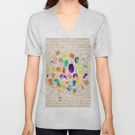 Fingerprints  Unisex V-Neck