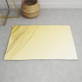 Wild lines - gold Sunset Rug