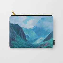 Iao Valley, Maui, Hawaiian landscape pinging by D. Howard Hitchcock Carry-All Pouch