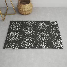 Sun and Moon Pattern Rug