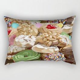 Sweet Italian Cookie Platter All Over Pattern Rectangular Pillow