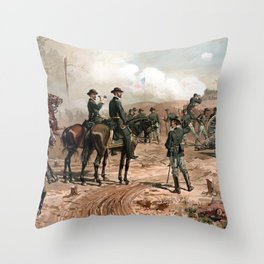 The Siege Of Atlanta -- Civil War Throw Pillow