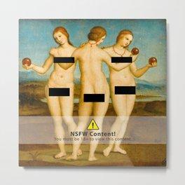 Three Graces censored Metal Print