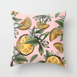 Lemon Crush Throw Pillow