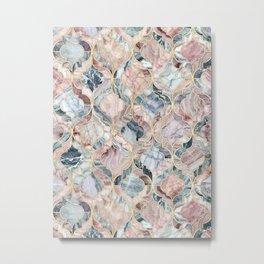 Marble Moroccan Tile Pattern Metal Print