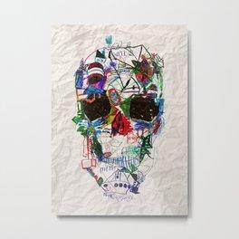 Ruzgars Skull Metal Print