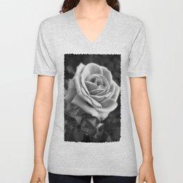 Pink Roses in Anzures 2 B&W Unisex V-Neck