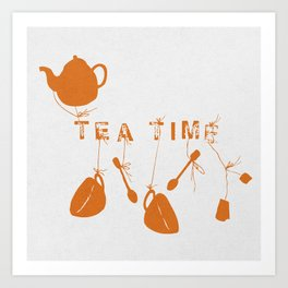 Orange Tea Time II Art Print
