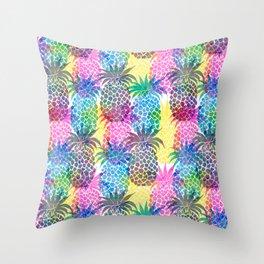 Pineapple CMYK Repeat Throw Pillow