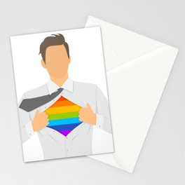 Proud gay Stationery Cards