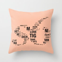 All languages ​​of the world Throw Pillow
