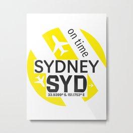 Airport Sydney SYD Metal Print