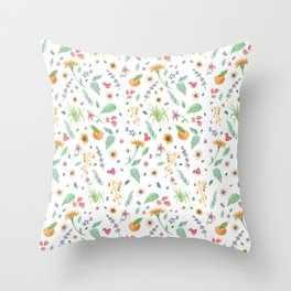 Essential Flowers Throw Pillow
