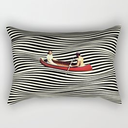 Illusionary Boat Ride Rectangular Pillow
