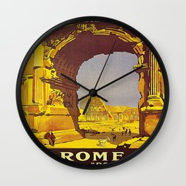 Vintage poster - Rome Wall Clock